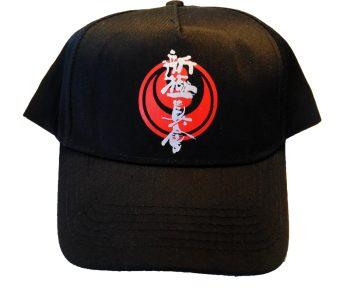 Black karate cap