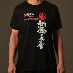 black karate t-shirt