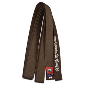 karate shinkyokushin brown belt
