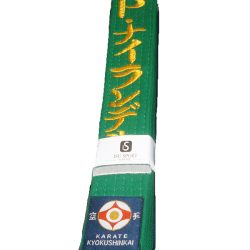Kyokushin karate green belt