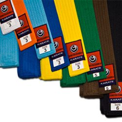 karate shinkyokushin color belts