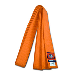 karate shinkyokushin orange belt