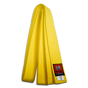 yellow shinkyokushin karate belt