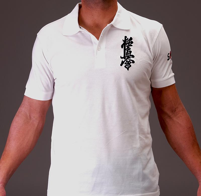 Kyokushin white polo t-shirt