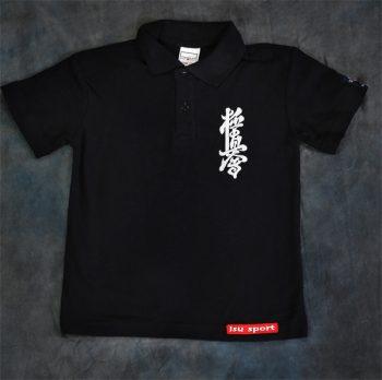 black polo kyokushin t-shirt