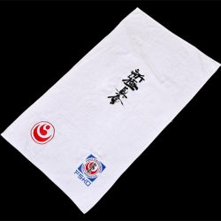 White shinkyokushin towel
