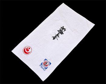 White shinkyokushin towel