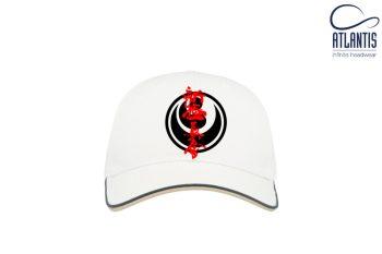 white karate cap