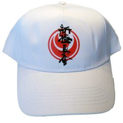 White shinkyokushin karate cap