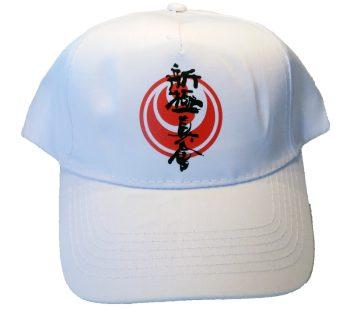 White shinkyokushin karate cap