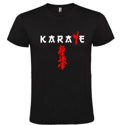 Black karate kyokushin t-shirt