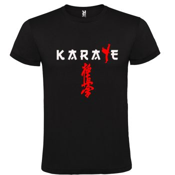 Black karate kyokushin t-shirt