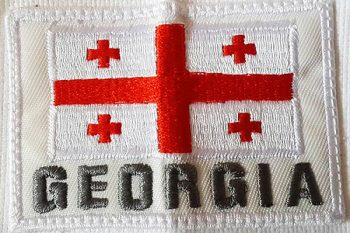 Georgia flag embroidery