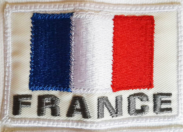 France flag embroidery