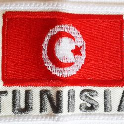 Tunisia flag embroidery