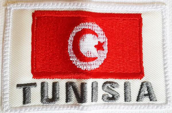 Tunisia flag embroidery