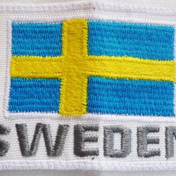 Sweden lag embroidery