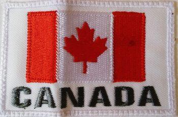 Canada flag embroidery
