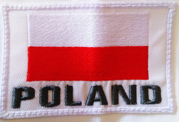 Poland flag embroidery