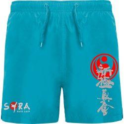 Blue printing shorts