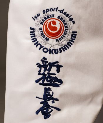 Leg shinkyokushin karate kanji embroidery