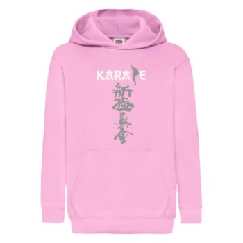 Shinkyokushin karate pink hoodie