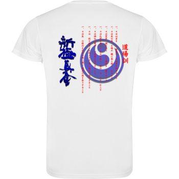 karate dojo kun t-shirt shinkyokushinkai